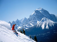 Snowboarding Lake Louise