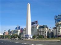 Nueve de Julio Avenue and Obelisk Argentina ©