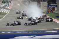 Excitement at the Bahrain Grand Prix. © Habeed Hameed