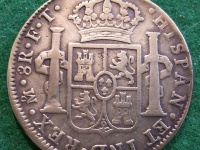 A silver Spanish coin © Jerry