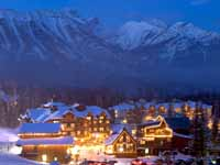 Fernie Alpine Resort at night