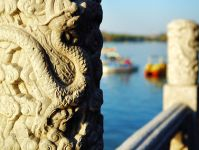 Intricate engravings at Beihai Park © chaibin