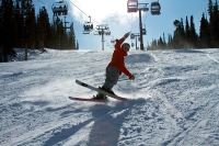 Skiing in at Keystone Resort