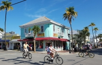 Cyclists in Key West