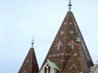 Tiled spire of Matthias Church © Paul Micallef
