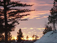 Bogus Basin sunset © Bogus Basin Resort