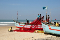 Fishermen on Colva Beach © Valeria Bolotova