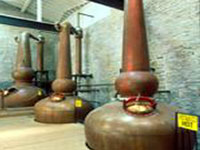 Copper pot stills, Labrot and Graham Distillery © Kentuckytourism.com