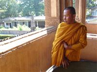 Monk at Ho Phra Kaew © Tevaprapas