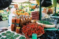 Variety of goods at the market © 98489045@N00