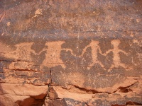 Petroglyphs in the Valley of Fire State Park © MrSilva