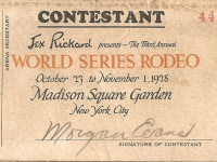 Cowboy Morgan Evans' World Series Rodeo © Dr. B. R. Lang