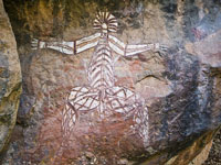 Aboriginal Rock Painting © spaceodissey
