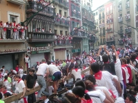 Pamplona Running of the Bulls © BotMultichill