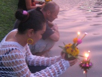 Candles are lit for Loy Kratong © gerrypopplestone