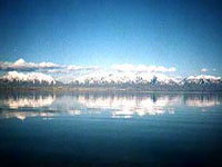 Great Salt Lake and the Wasatch Mountains ©