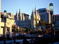 Salt Lake City skyline with Mormon Temple © Jason Mathis