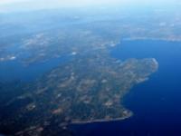 Aerial view of Bainbridge Island © Dcoetzee
