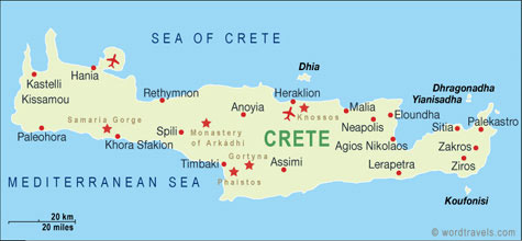 Greece map.
