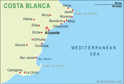 Spain map.