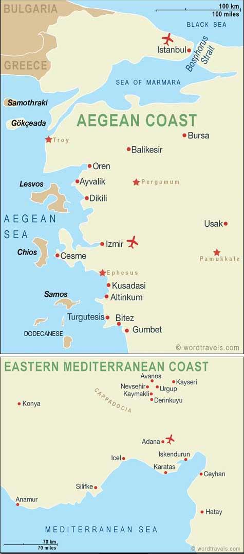 Turkey map.