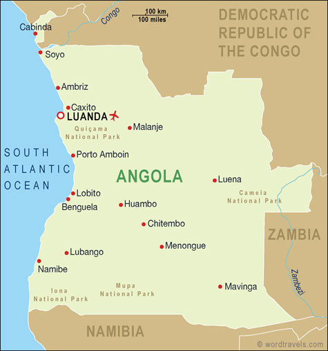 Angola map.