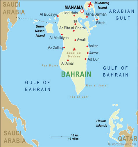 Bahrain map.
