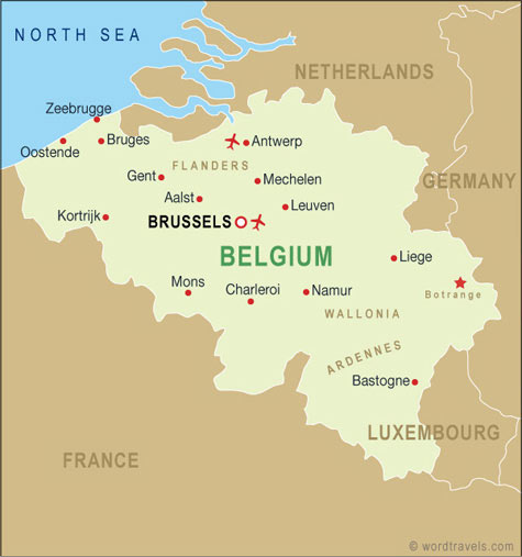 Belgium map.