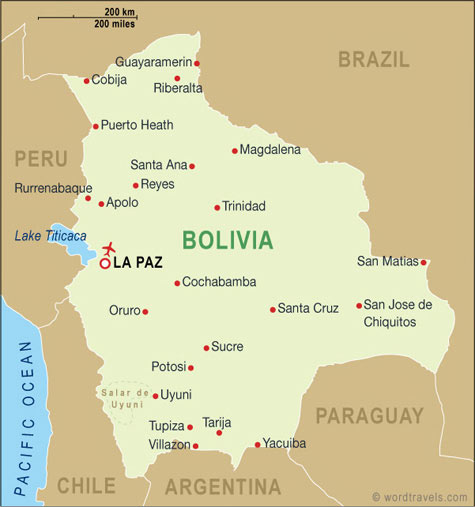 this page if you would like permission to use this map of Bolivia