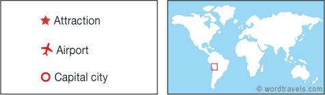Bolivia map.