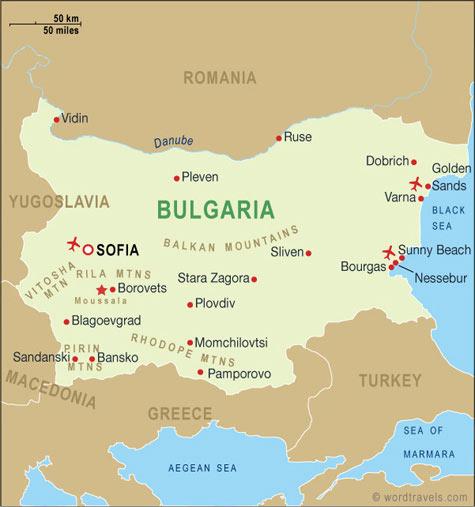 map of bulgaria sunny beach Bulgaria Map Bulgaria Travel Maps From Word Travels map of bulgaria sunny beach