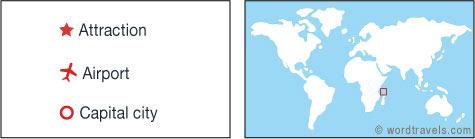 Comoros map.