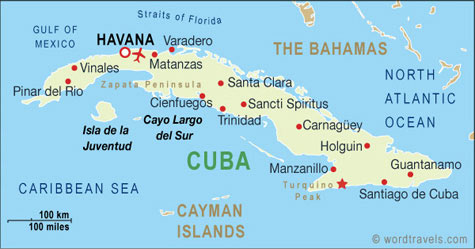 Cuba map.