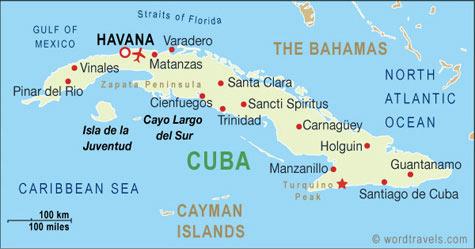 Cuba map.