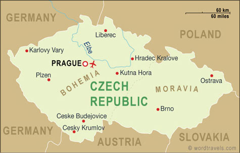Czech Republic map.