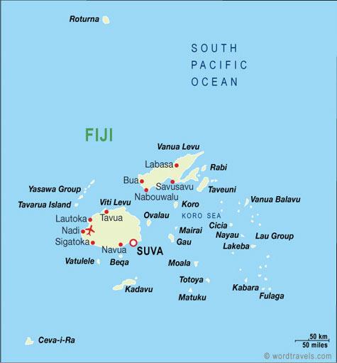 Fiji map.