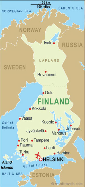 Map Of Finland And Surrounding Countries. Finland - Destination Guides