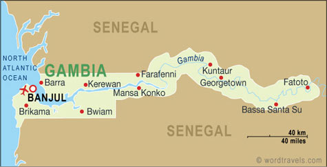 Gambia map.