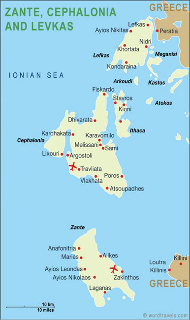 map of zante hotels