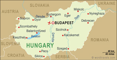 Uniglobe travel international travel planning map of hungary gumiabroncs Choice Image