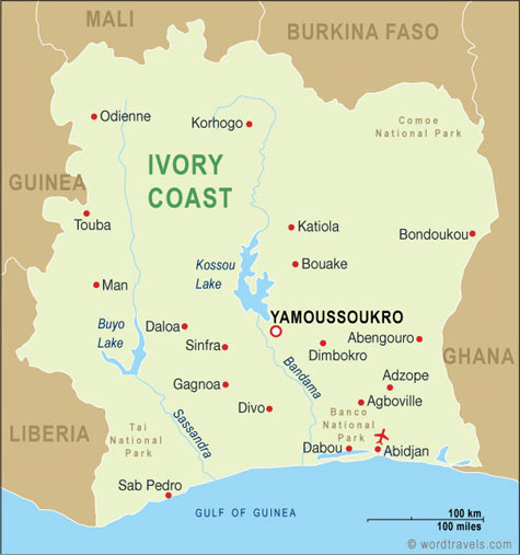 Ivory Coast map