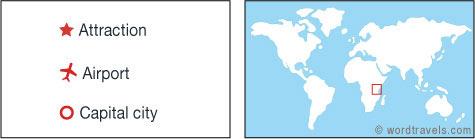 Kenya map.