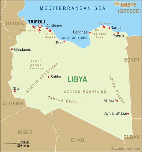 Libya map.