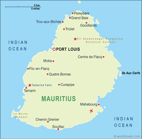 Mauritius Map, Mauritius Travel Maps from Word Travels Mauritius Travel Maps