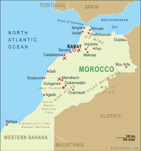 Morocco Map Morocco Maps and