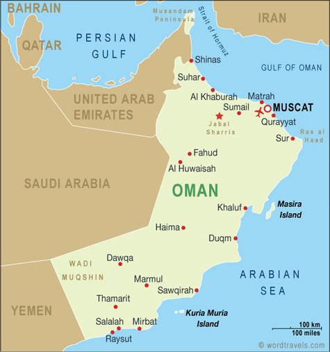 Oman map.