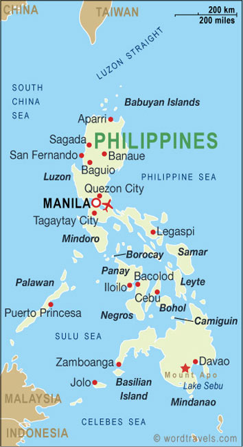 Philippines map.