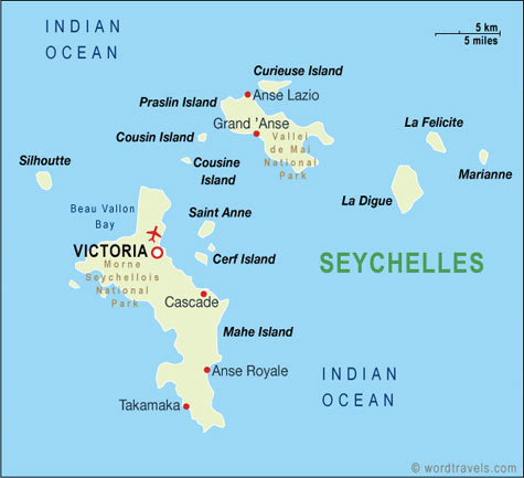 Seychelles Map Seychelles Travel Maps from Word Travels