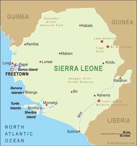 Sierra Leone map.