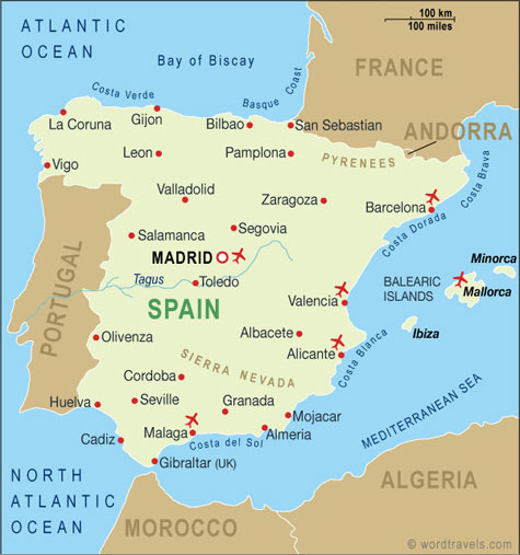 Spain Map Spain Maps and